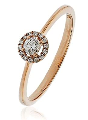 Ring 18CT Rose Gold GSI1 0.15 cts