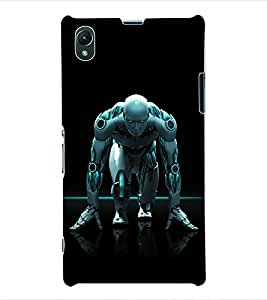 ColourCraft Robot Back Case Cover for SONY XPERIA Z1 - C6903 / C6906