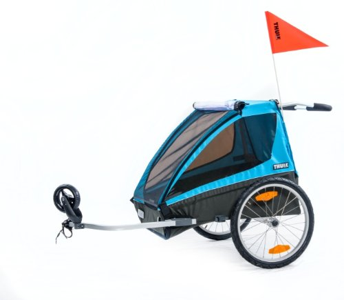 Thule Coaster2+ Bicycle Trailer/Stroll, Blue front-1007834