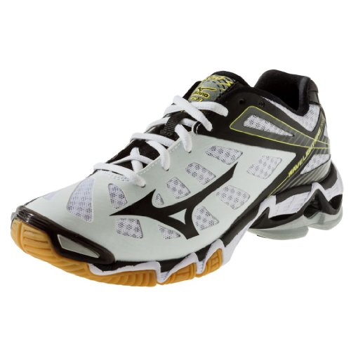 Mizuno Men's Wave Lightning RX3 Volleyball Shoe,White/Black,12 M US