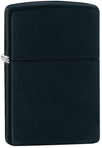 Zippo Regular Lighter, Black Matte, 1.5 x .5 x 2.25-Inch
