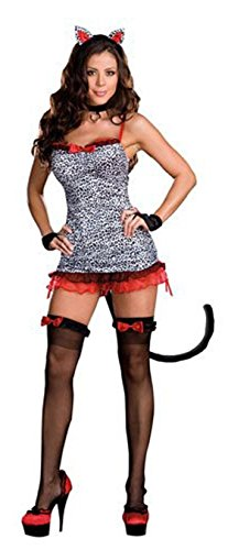Womens X-Large (14-16) Sultry Stray Feline Costume (Feline Costume)
