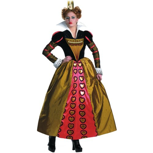 Deluxe Red Queen Costume - Medium - Dress Size 8-10