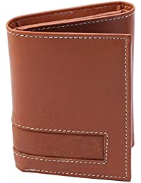 Lens Brown Trifold Genuine Leather Wallet For Man LW-005