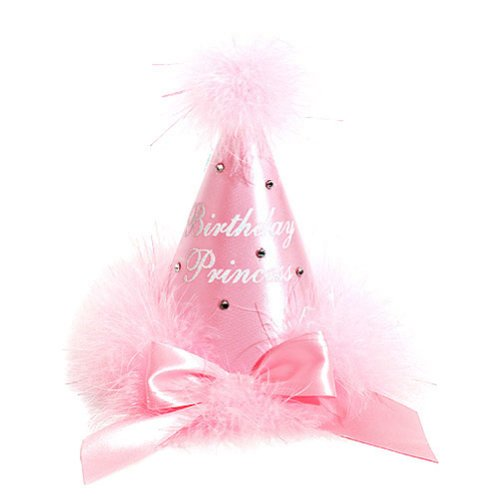 Boutique Baby Girl Accessory PINK Rhinestone BIRTHDAY PRINCESS Party Hat