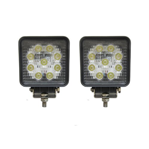 Woputuo 2 X 27W Square 9Pcs Led Work Light Lamp 9V-32V 1560 Lumen With 30 Degree Flood Driving Light,Waterproof Suitable For Most Cars Such As Off Road High Power Atv Jeep Cabin,Boat,Truck And Car