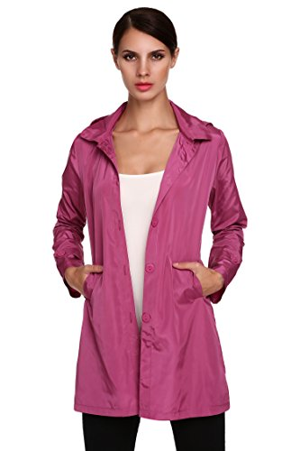 CRAVOG Damen Regen Jacke Übergangs Windbreaker Outdoor Regenjacke -