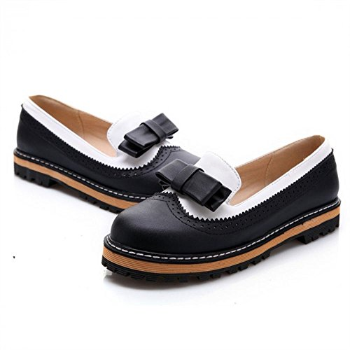 Candy Color Women's Low Heel Bowknot Oxfords Shoes