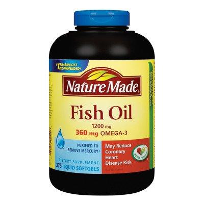 Nature made cod liver oil vitamin a vitamin d for Multivitamin with fish oil