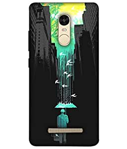 Dukancart Painting Black Back Cover for Red Mi Note 3 DCMN3F0786