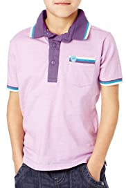Pure Cotton Fine Striped Polo Shirt [T88-0310M-Z]