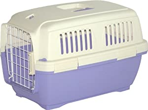 Marchioro Clipper Cayman 2 Pet Carrier, Small Pet, 22.25-inches, Tan/Light Violet