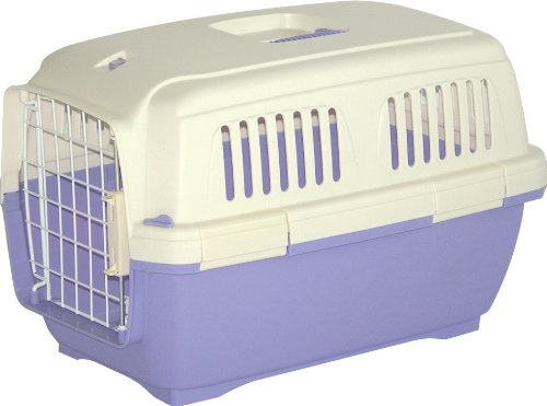 Marchioro Clipper Cayman 1 Pet Carrier, Small Pet, 19.5-inches, Tan/Light Violet