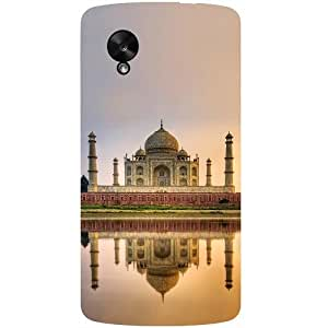 Casotec Taj Mahal Design Hard Back Case Cover for LG Google Nexus 5