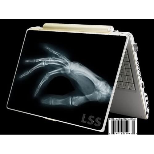 Laptop Skin Shop Laptop Notebook Skin Sticker Cover Art Decal Fits 13.3 14 15.6 16 HP Dell Lenovo Asus Compaq (Free 2 Wrist Pad Included) Skeleton Hand Scan