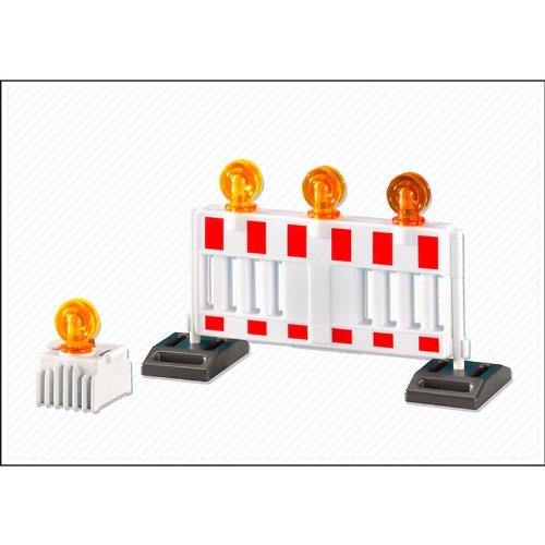 Playmobil Barricade and Warning Light