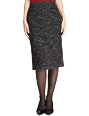 M&S Collection Bouclé Pencil Skirt with New Wool