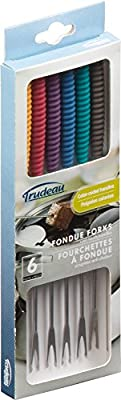 TrudeauFondue Forks with Silicone Handles, Set of 6
