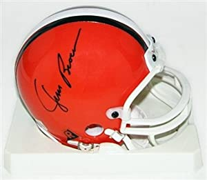 JIM Brown Hall of Fame Signed Autograph Cleveland Browns Mini Helmet Authentic... by Riddell