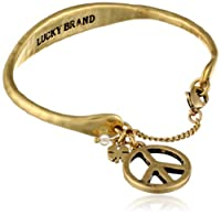 Lucky Brand Peace Chain Cuff Bracelet from Lucky Brand