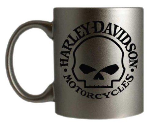 Harley-Davidson Willie G. Skull Logo Silver Coffee Mug HD-WGS-1233
