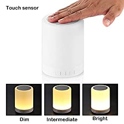 BlueInk Wireless Portable Multifunctional Bluetooth Speakers With Smart Touch LED Mood Dimmable Lamp, Music Player / Hands-free Bluetooth Speakerphone/TF card / AUX supported