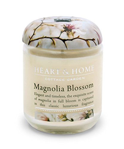 Heart & Home Small Glass Magnolia Blossom Candle