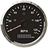 ELING MPH GPS Speedometer Odometer 125MPH Mileage Adjustable Overspeed Alarm for Boat Car Truck Motorcycle 85MM