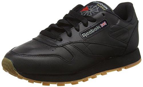 Reebok Classic Leather, Scarpe da Ginnastica Basse Donna, Nero (Black/Gum), 42 EU