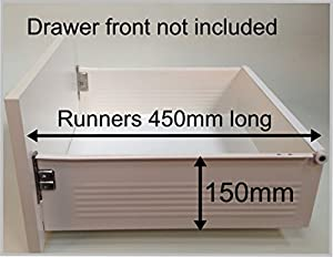 Replacement kitchen drawer box (deep), complete kit ...