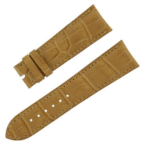 chopard-22-mat-18-mm-miel-bracelet-en-cuir-veritable-alligator-pour-homme