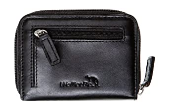 WalletBe Women's Leather Accordion ID Wallet Small Black