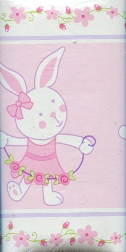 Wamsutta Baby Ballet Bunnies Nursery Wall Border