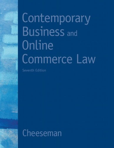 Contemporary Business and Online Commerce Law (7th Edition) (MyBLawLab Series)
