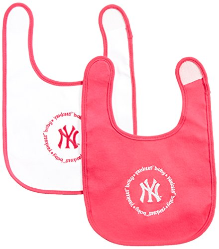 MLB New York Yankees Baby Fanatic Bib (2-Pack), Pink