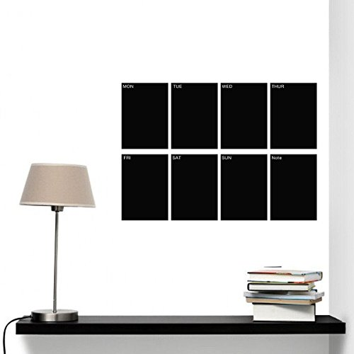 LUCKKYY®Set of 8 A4 Sized Removable Decorative Weekly Planner Blackboard Sticker Viny wall decorations for living room - 1