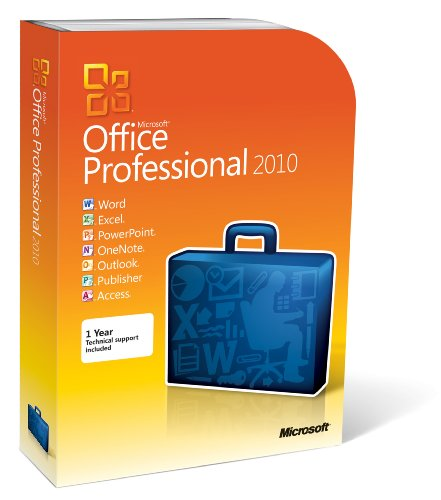 Microsoft Office 2010 Professional, 1 User (PC DVD)