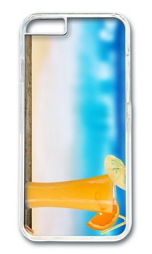 Cocktail Of Orange Juice Pc Transparent Hard Case For Apple Iphone 6(4.7 Inch) front-1077972