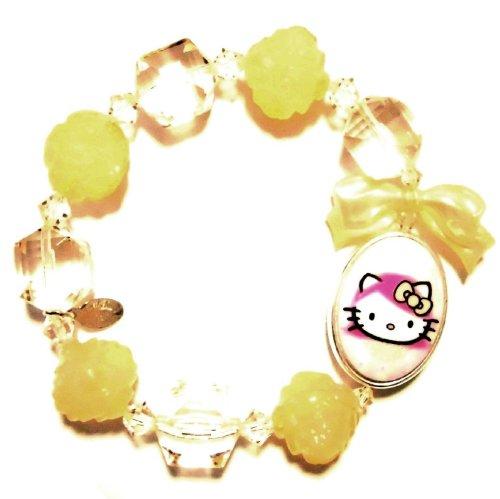 TARINA TARANTINO (タリナタランティーノ) Los Angeles Kitty PINK HEAD PORTRAIT MULTIBEAD Hello Kitty bracelet nude color