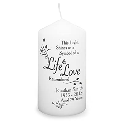 Personalised Life & Love Remembrance Candle