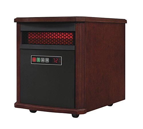 Duraflame 9HM7253-C299 Portable Electric Infrared Quartz Heater, Dark Cherry