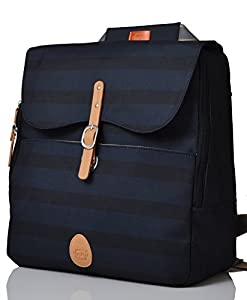 PacaPod Hastings Ink Stripe Lite Designer Baby Changing Bag - Luxury Lightweight Natural Knapsack 3 in 1 Organising System With Convertible BackPack Straps from PacaPod