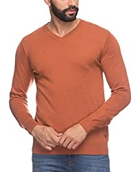 Raymond Men's Woolen Sweater (8907252510061_RMWX00365-E4_42_Orange)