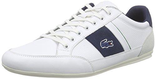 Lacoste Uomo Bianco/Marina Chaymon 216 Cuoio Sneaker-UK 8