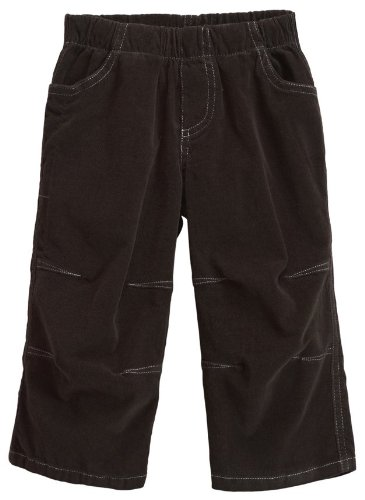 City Threads Baby Boys' Soft Stretch Cord Pull-Up Pant w/ Knee Articulation - Dark Cocoa - 9-12 Months