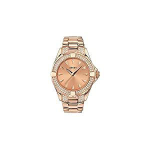 Seksy 4669 Ladies Rose Gold Plated Bracelet Stone Set Watch