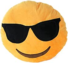 Comprar Emoji Emoticon almohada Riendo cojín almohada Presidente Cojín Cojín redondo (Sonnenbrille)