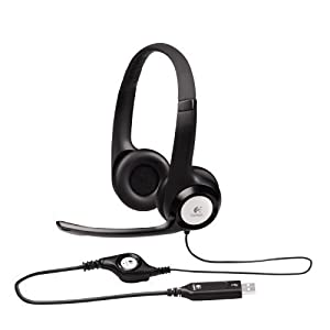 Logitech ClearChat Comfort USB Headset H390 with Mic - Black (Certified Refurbished)