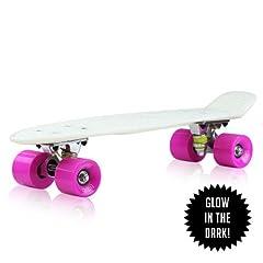 Buy EightBit® 22 Complete Skate Board - Retro Skateboard Glow-in-the-Dark - Kryptonite  Punch by Eightbit