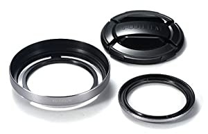 Fujfilm X20,X30 Lens Hood and Filter Kit - Silver